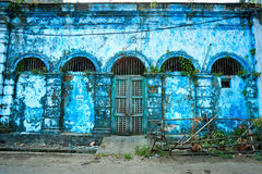 Yangon, Myanmar. Facde of an old colonial palace in Yangon, Myanmar royalty free stock images