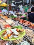 Yangon, Myanmar - April 24, 2016 : China Town street, Yangon, street food. Yangon, Myanmar - April 24, 2016 : China Town street, in Yangon, street food royalty free stock photo