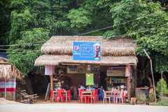 Yangon Myanmar, Czerwiec 22 2558, -: witryna sklepowa w Myanmar Supermark Obrazy Stock