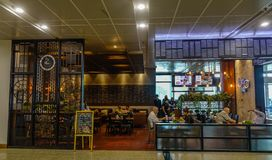 Coffee shop at Yangon Airport royalty free stock images