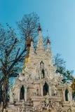 Yangon Myanmar - FEBRUARI 19th 2014: Guld- buddha tempel på Shwedag Arkivfoton