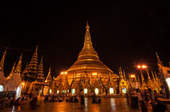 Yangon,Myanmar-February 19,2014: Shwedagon Pagoda Stock Photos