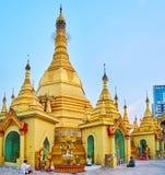 Hti umbrella of Sule Pagoda, Yangon, Myanmar Stock Photos
