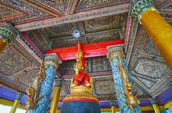 The ceiling of Tharrawaddy Min Bell House, Shwedagon, Yangon, My royalty free stock images