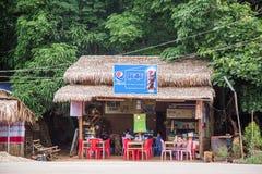 Yangon, Myanmar - Juni 22 2558: storefront in Myanmar Supermark stock afbeeldingen
