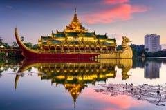 Yangon, Myanmar at Karaweik Palace Royalty Free Stock Image