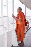 YANGON, MYANMAR - november 24, 2015: Monk on the ferry at Yangon Stock Images