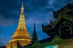 Shwedagon Paya Pagoda main stupa stock photos