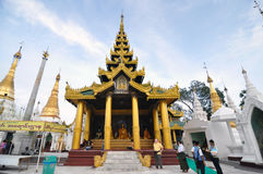 YANGON, MYANMAR - October 11: Unidentified pilgrims on the trail Royalty Free Stock Images
