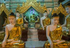 Shwedagon Pagoda in Yangon, Myanmar. YANGON , MYANMAR - SEP 12 : Shwedagon Pagoda in Yangon, Myanmar on September 12 2017 , Shwedagon Pagoda is the most sacred Royalty Free Stock Image