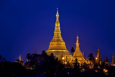 Yangon by night Stock Image