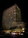 Yangon Night life (Shangri-La Hotel. Busy at downtown Yangon Stock Photography