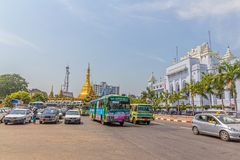 Yangon old building Stock Photo