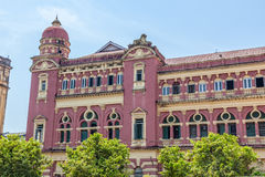 Yangon old building Royalty Free Stock Image