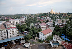 Yangon rangoon  city myanmar burma Stock Photography