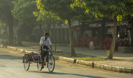Yangon rickshaw Stock Photography