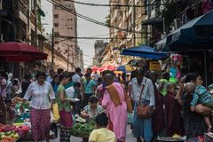 Yangon rynek, Myanmar Zdjęcie Stock