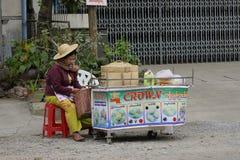 Yangon street vendor Royalty Free Stock Photography