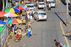 Yangon Street Vendors, Myanmar Royalty Free Stock Photos