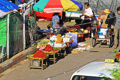 Yangon Street Vendors, Myanmar Royalty Free Stock Photo