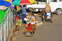 Yangon Street Vendors, Myanmar Royalty Free Stock Images