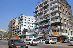 Yangon Street view Royalty Free Stock Images