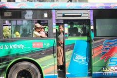 Yangon Street view in Myanmar Royalty Free Stock Images