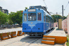 Yangon Tram Royalty Free Stock Image
