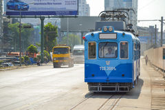 Yangon Tram Royalty Free Stock Photography