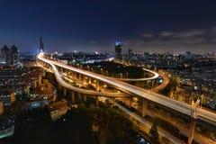 Yangpu-Brücke, Shanghai Stockfotografie