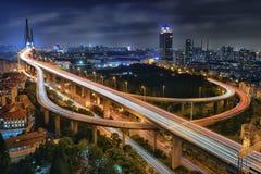 Yangpu-Brücke, Shanghai Stockfotos