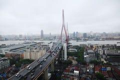 Yangpu bridge in Huangpu River, Shanghai Stock Photography