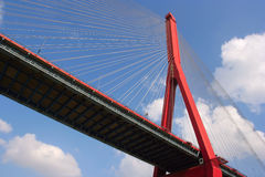 Yangpu Bridge of Shanghai Royalty Free Stock Photos