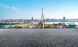 Yangpu Bridge in Shanghai, China Royalty Free Stock Photo