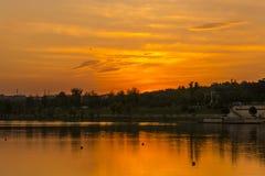 Yangshan Park sunset Royalty Free Stock Image