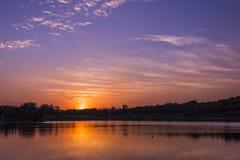 Yangshan Park sunset Stock Photography