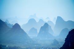 yangshuo холмов Стоковое Изображение RF
