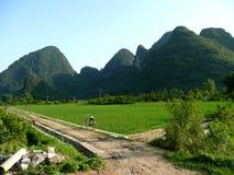 Yangshuo. Landscape in yangshuo guilin in china Royalty Free Stock Photo