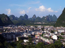 Yangshuo aerial view Stock Photo
