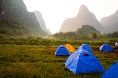 Yangshuo campa Arkivfoto
