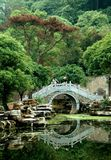 Yangshuo, China: Chinese Arched  Bridge Royalty Free Stock Photography