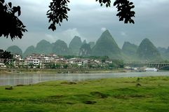 Yangshuo, China: Karst Rock Formations Stock Photography