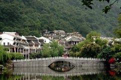 Yangshuo, China: View of City and Bridge Royalty Free Stock Photos