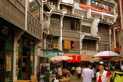 Yangshuo, China: West Street Wooden Buildings Stock Image