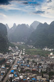 Yangshuo county with karst landform Royalty Free Stock Images