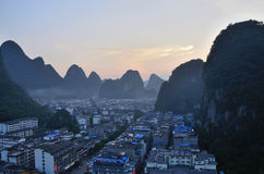 Yangshuo County panorama Stock Images