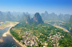 yangshuo för berg för guilin karstliggande Fotografering för Bildbyråer