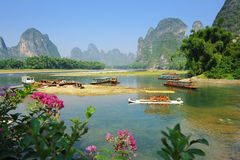 Yangshuo Guilin. Beautiful Karst mountain landscape in Yangshuo Guilin, China Stock Images