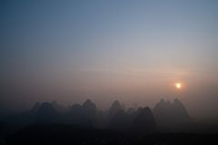 Yangshuo, Guilin em China fotos de stock royalty free