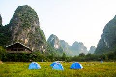 Yangshuo klippor Arkivbild
